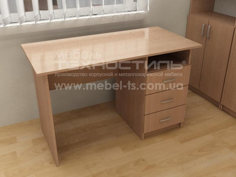 Стол письменный с 3-мя ящиками