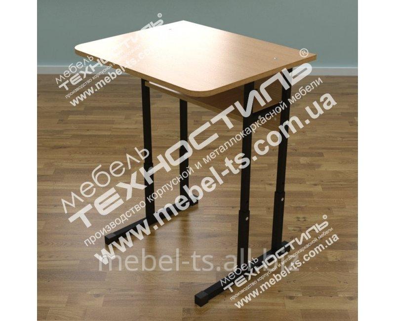 Стол ученический одноместный с регулировкой высоты УСР-10