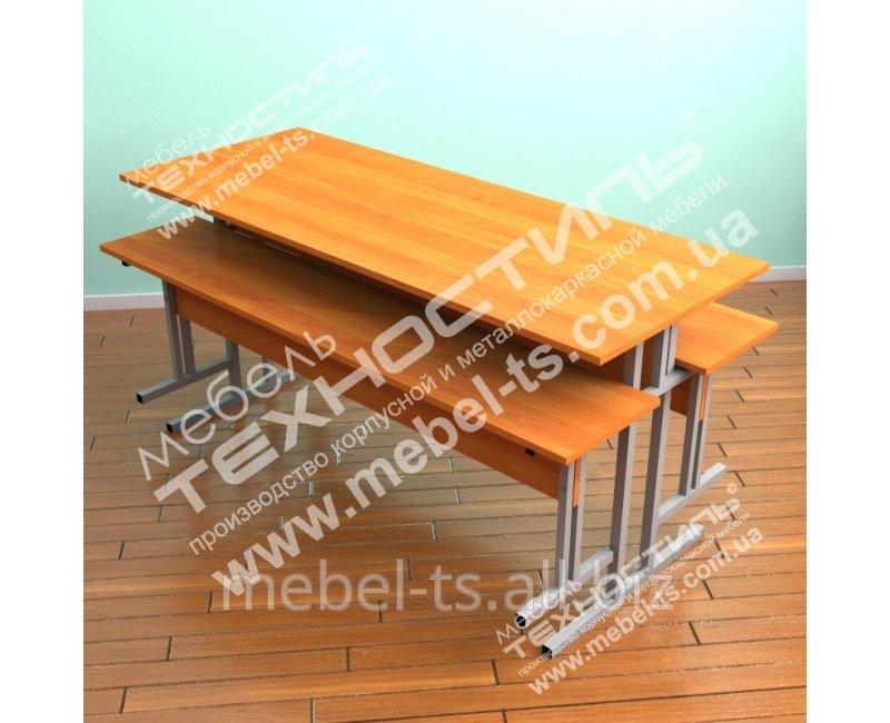 Стол обеденный с подвесными лавками