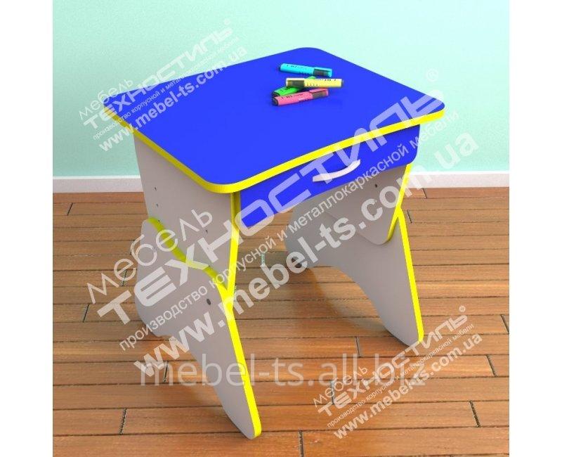 Столик одноместный с регулировкой высоты и ящиком ЦВЕТ