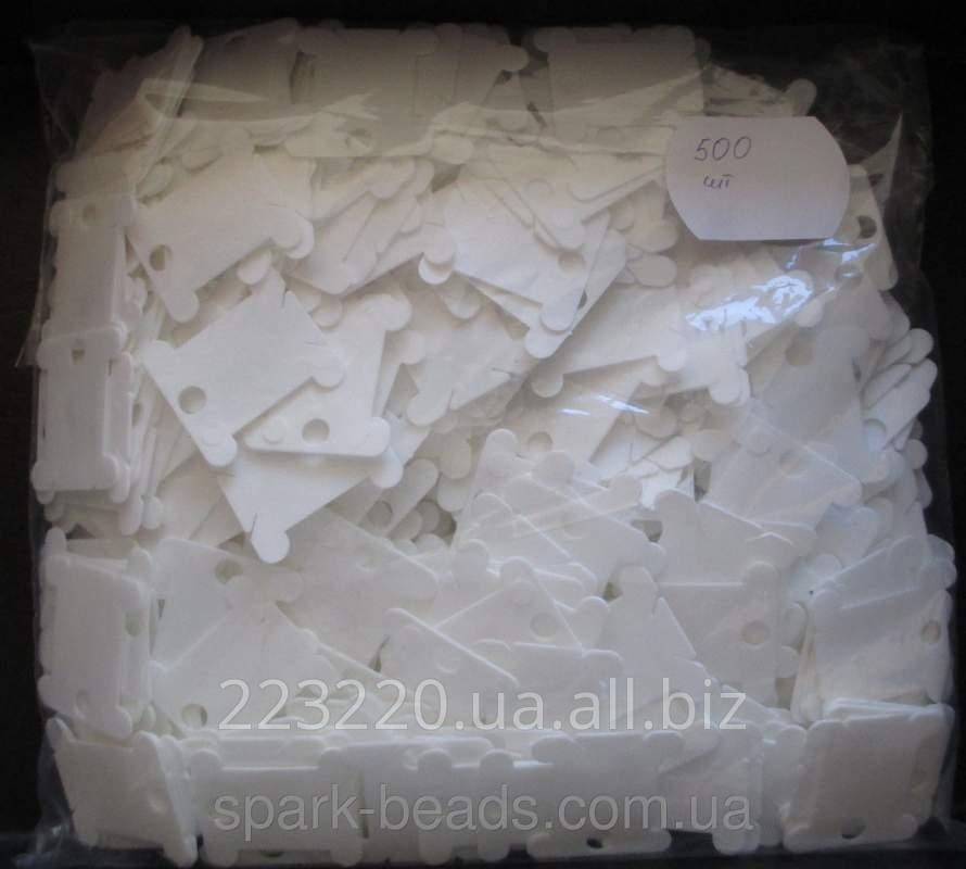 Купить Шпули пластиковые для мулине (500 шт) белые