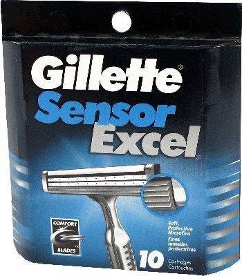 Купить Лезвия Gillette Sensor Excel картриджи 10шт