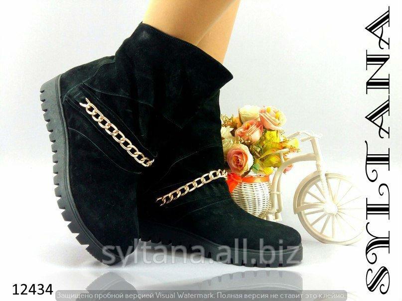Купить Женские ботинки с мехом код 12434