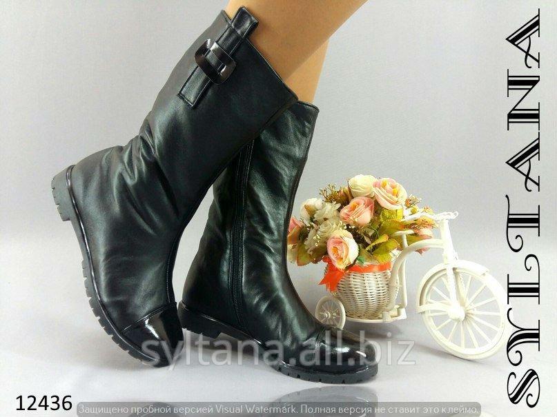 Купить Женские ботинки с мехом код 12436