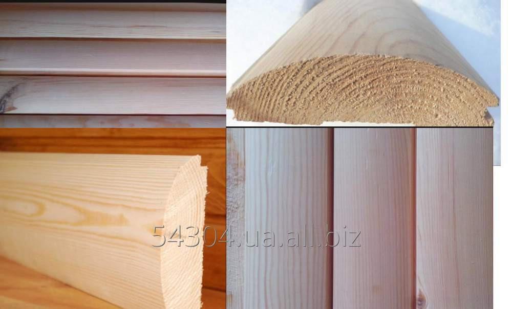 Купить Блок-хаус из сосны и ясеня для внутренней и наружной отделки имитирует бревно
