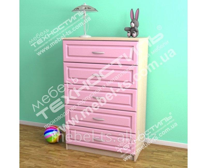 Комоды для детской комнаты и спальни КД-5 ЦВЕТ
