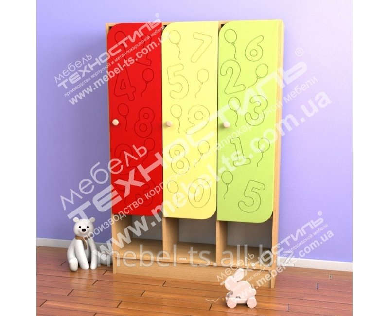 Шкаф трёхсекционый для раздевалки