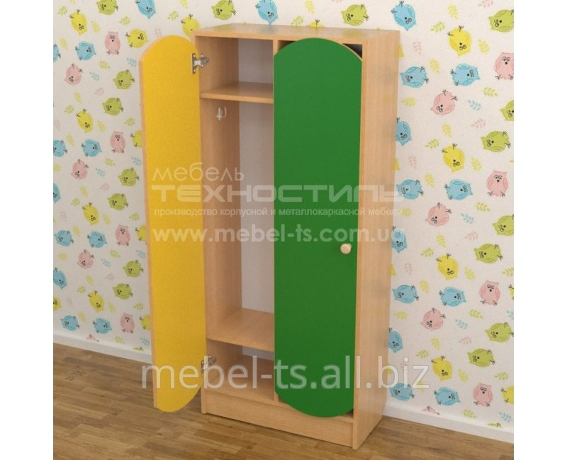 Шкаф детский двухсекционный для раздевалки