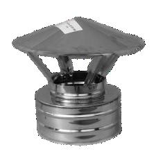 Грибок с термоизоляцией ф230/300 н/н (козырёк, зонтик, колпак, дымник, флюгарка, накрывка на дымоход)
