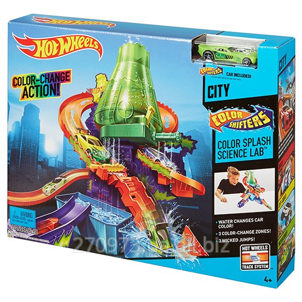 Hot Wheels Track Scientific Laboratory Explosion Of Paints Of A Series Change Color Ccp76