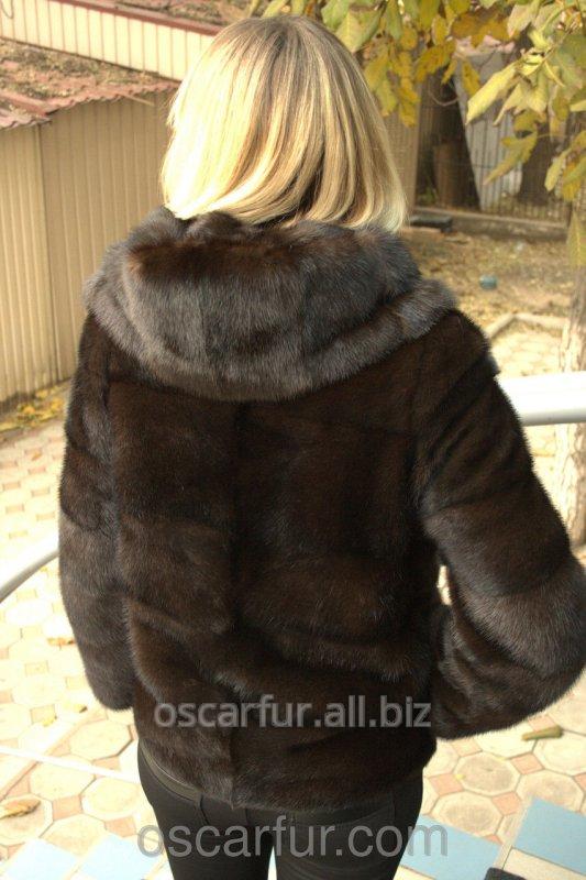 dc916b496a7e94 Норковая шуба автоледи с капюшоном купить в Одессе