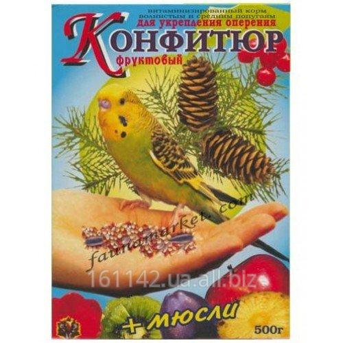 Buy Forage fruit with muesli for plumage of wavy popugaychik of 500 g Wim Konfituer