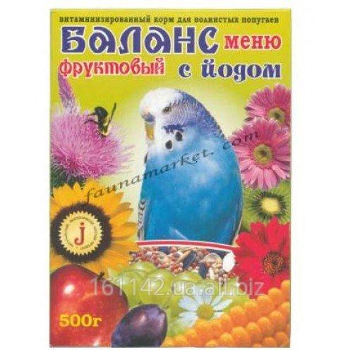 Buy Balance menu a forage, fruit with iodine, for wavy popugaychik of 500 g Wim