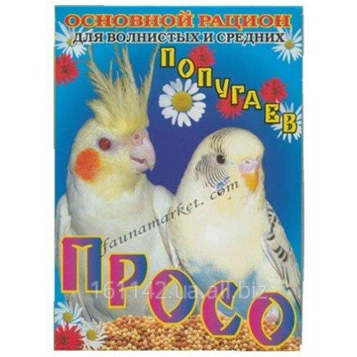 Купить Корм для волнистых и средних попугаев 500 г Вим Просо