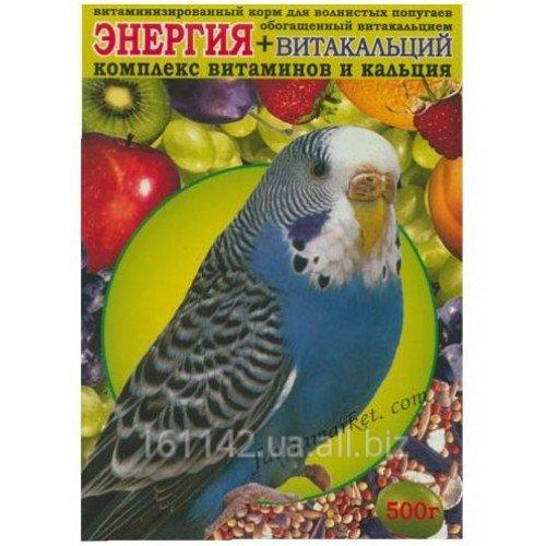 Buy Forage for wavy popugaychik with vitamins and calcium of 500 g Wim Energija