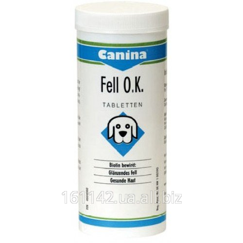 Buy Biotin with minerals for dogs 125 tab Canina FELL OK.