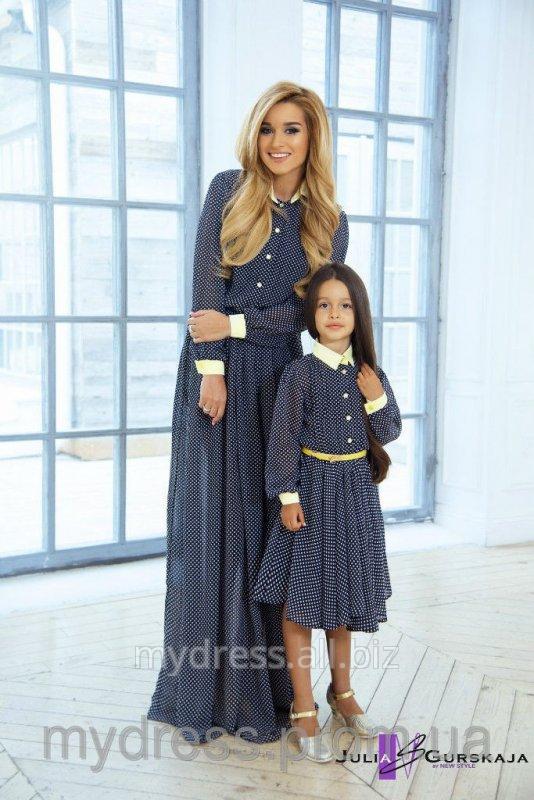 Платье парные мама с дочкой для