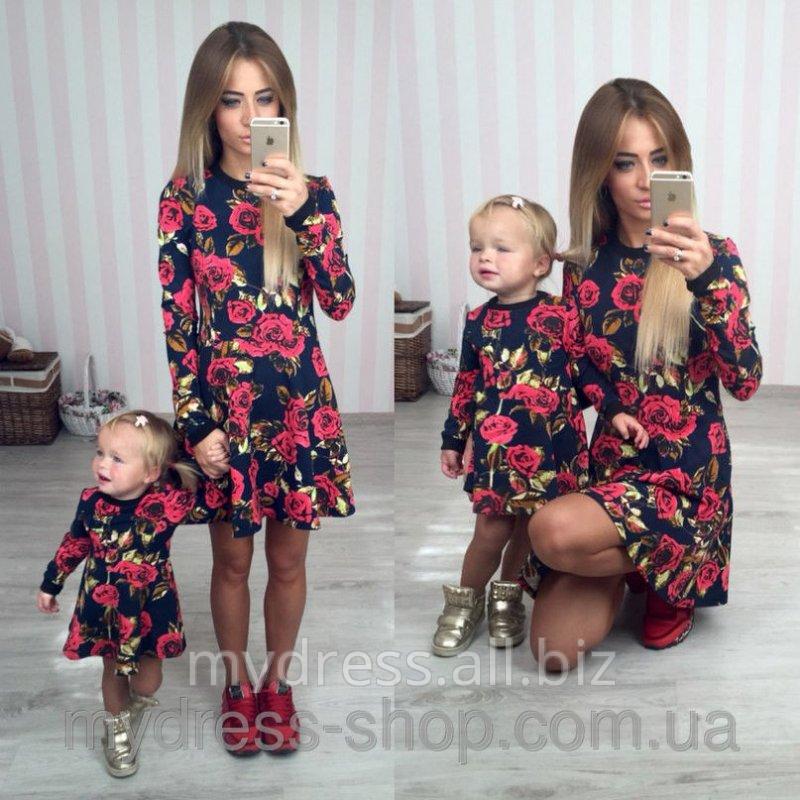 Парные платья для мамы и дочки