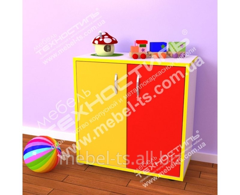 Шкаф детский закрытый М-61 ЦВЕТ