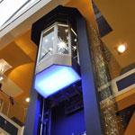 Elevators are panoramic