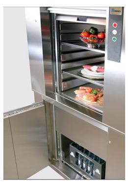 Лифт кухонный для ресторана, бара, кафе, дама