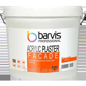 Акриловая штукатурка с фактурой «короед», размер зерна 2,0 мм Facade Acrylic Plaster R20 25 кг