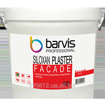 "Силоксановая штукатурка с фактурой ""короед"", размер зерна 2,0 мм Facade Siloxan Plaster R20 25 кг"
