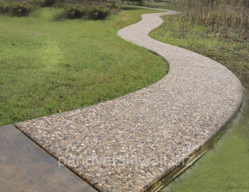 Декоративный бетон для дорожек купить цементный раствор цены