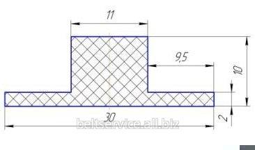 Шевроны для конвейерных лент Т10х30 мм