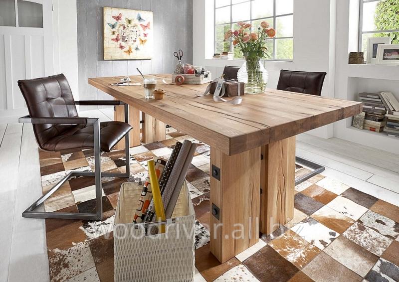 Buy Oak table, wide massive board, natural edge.