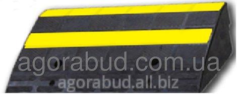 Купить Резиновый съезд/заезд для бордюра (пандус), основной элемент L600хH150хW350 мм