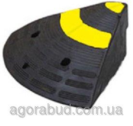 Купить Резиновый съезд/заезд для бордюра (пандус), боковой элемент (L300хH150хW350 мм)