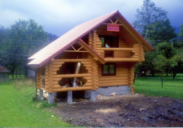 Házak fa (log-ház) Ukrajna