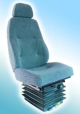 Сиденье водителя с механическим виброзащитным модулем