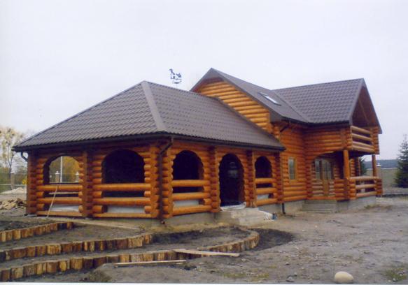 Дома из оцилиндрованного бревна в Мукачево