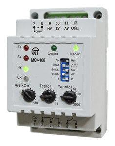 Контроллер насосной станции МСК-108 (реле уровня, реле давления)