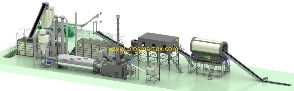 Линия гранулирования 1800-2200 кг/ч до 65%