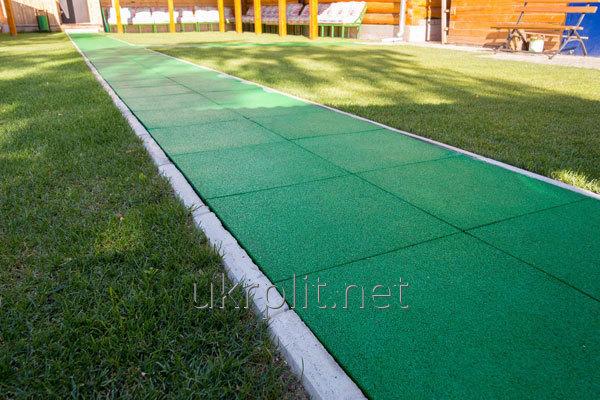 Производство резиновой тротуарной плитки из крошки