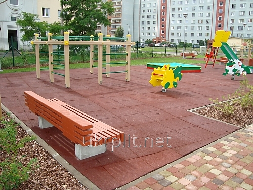 Covering for playgrounds - the Safety rubber tile