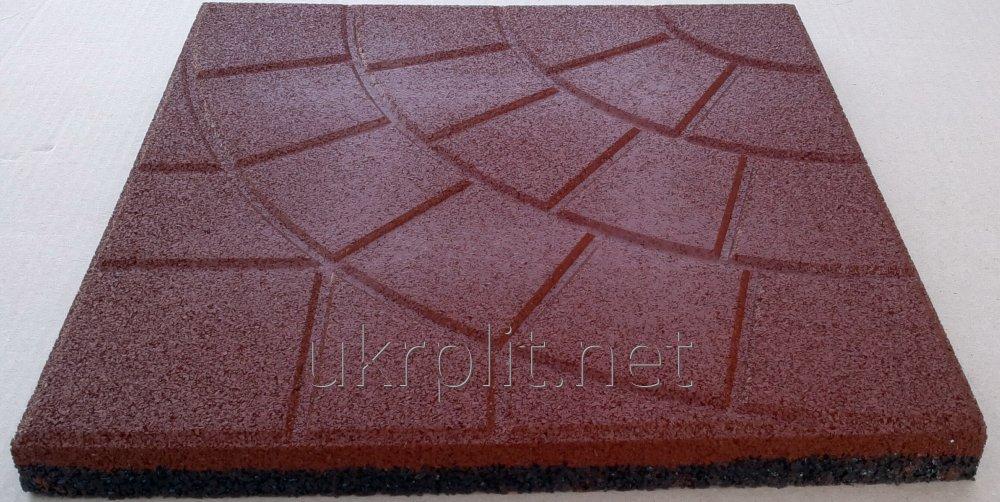 Плитка напольная резиновая  Паутинка толщиной 45 мм