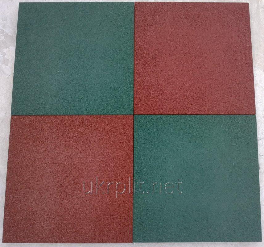 Резиновая плитка для зон отдыха,  500х500 мм, 30 мм