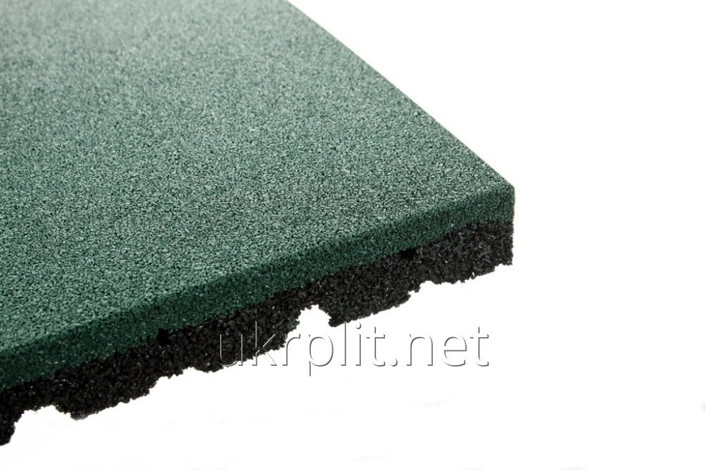 Buy Floor coverings from a rubber crumb of 500x500 mm, 20 mm