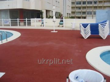 Покрытие напольное  безопасное для бассейнов