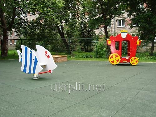 Напольное покрытие резиновое для детских площадок