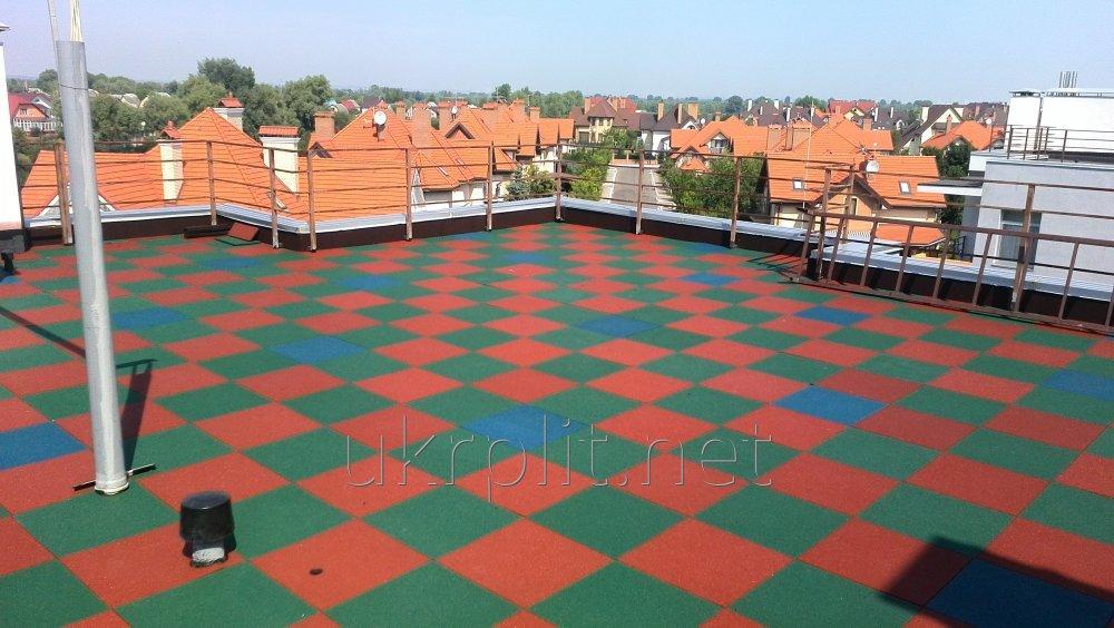 Противоскользящая  плитка для балкона, для крыши