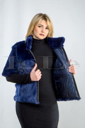 Двухсторонняя женская куртка, меховые куртки (код КМД001112), Харьков