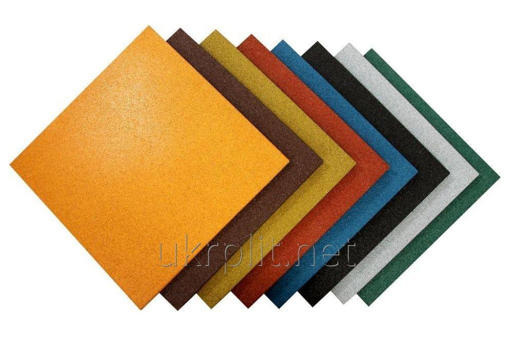 Rubber floor tile from TM of Ukrplit of different thickness