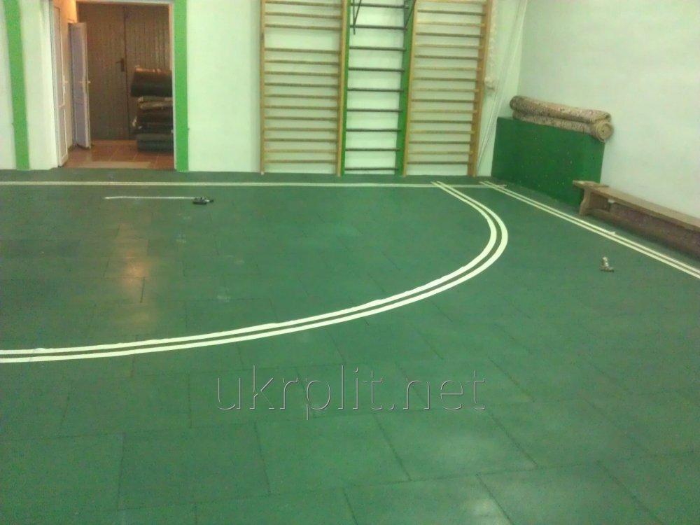 Резиновая плитка покрытие для спортивных залов и детских площадок