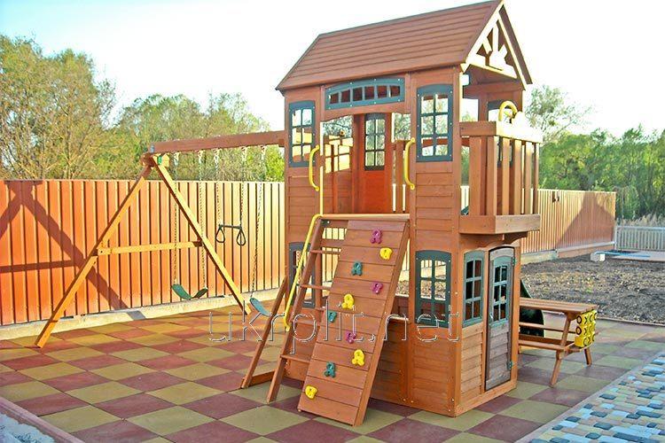 Травмобезпасная резиновая плитка Детская площадка