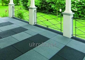 Травмобезопасная резиновая плитка для террас, балконов